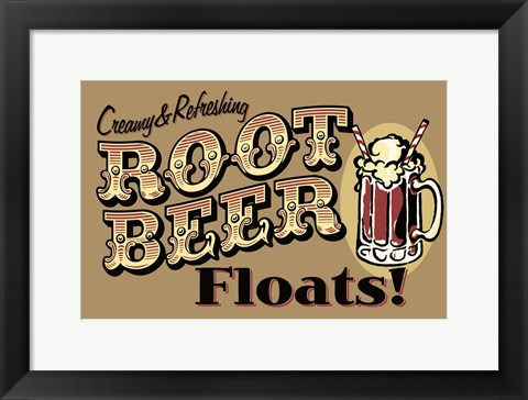 Framed Root Beer Floats Print