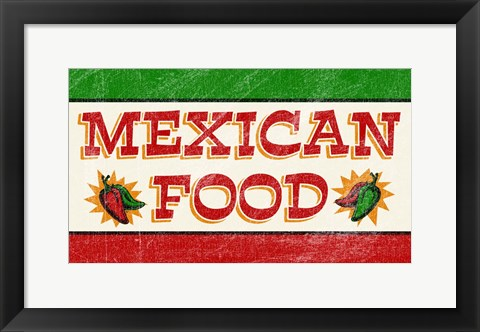 Framed Mexican Food Print