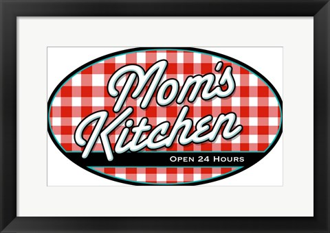 Framed Moms Kitchen Print