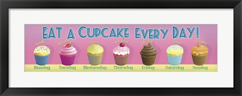 Framed Cupcake Every Day Print
