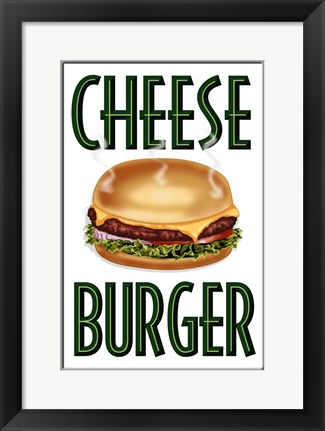 Framed Cheese Burger Vertical Print