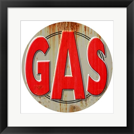 Framed Gas Distressed Print