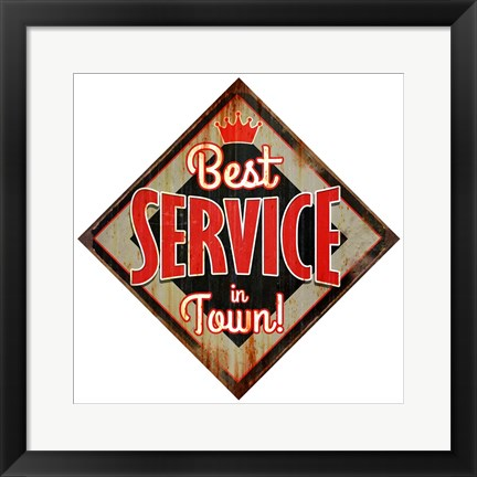 Framed Best Service Diamond Print