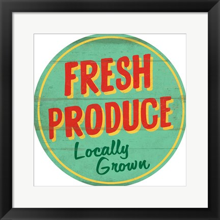 Framed Fresh Produce Round Print