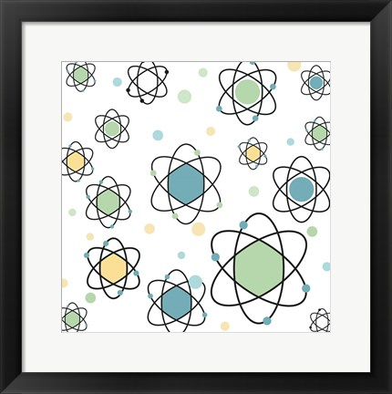 Framed Atomic Symbol Print