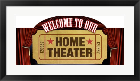 Framed Home Theater Marquee Print