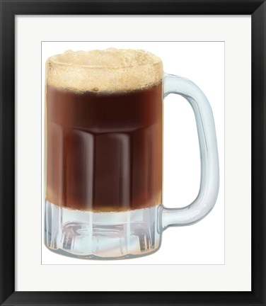 Framed Root Beer Mug Print