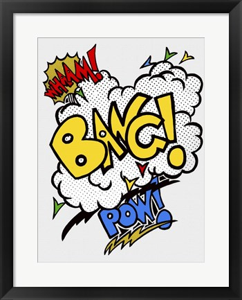 Framed Wham Bang Pow Combo Cut Out Print