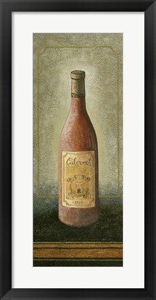 Framed White Wine 1 Print