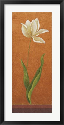 Framed Contemporary White Floral II Print