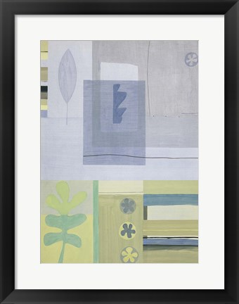 Framed Blue Green Abstract 1 Print
