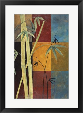 Framed Bamboo Abstract 1 Print