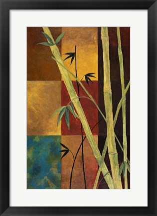 Framed Bamboo Abstract 2 Print