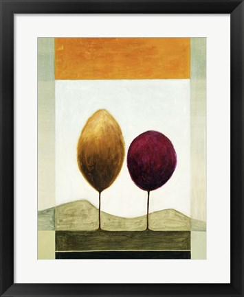 Framed Lollipop Trees 1 Print