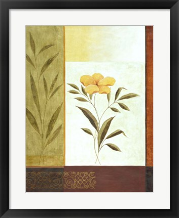 Framed Orange Bloom 1 Print