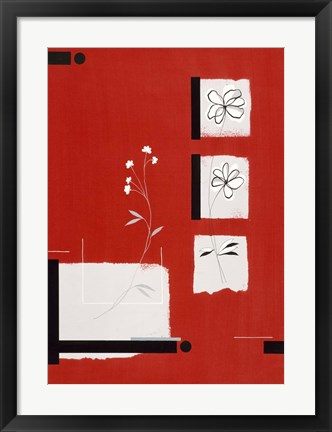 Framed Red Abstract 1 Print