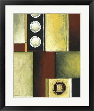 Framed Circle and Squares III Print