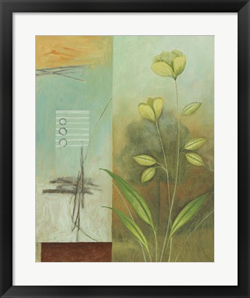 Framed Asian Floral Abstract II Print
