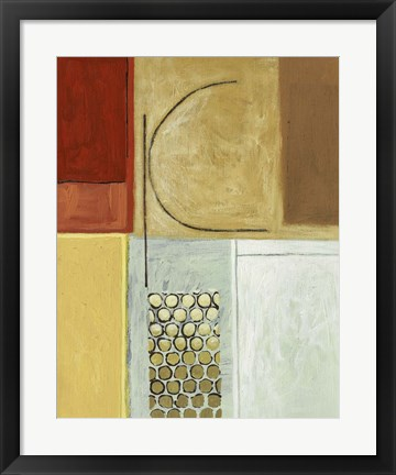 Framed Earth Tone II Print