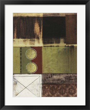 Framed Circle and Squares II Print