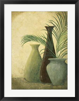Framed Three Vases I Print