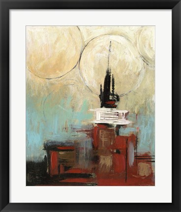 Framed Tower In The City II Print