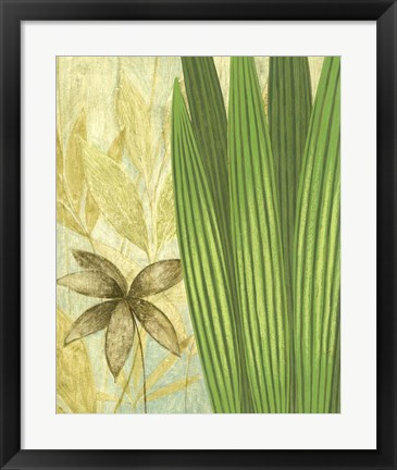 Framed Tall Narrow Palm Print