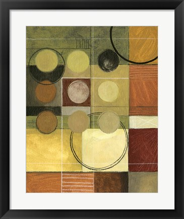 Framed Nine Circles, One Black Print