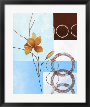 Framed Brown Flower III Print