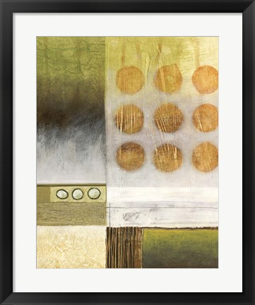 Framed Shades of Green II Print