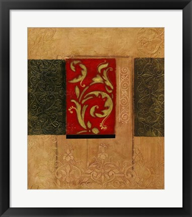 Framed Gold and Sage I Print