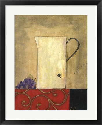 Framed Jug and Fruit II Print