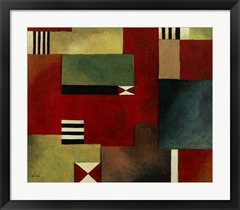 Framed Geometric I Print