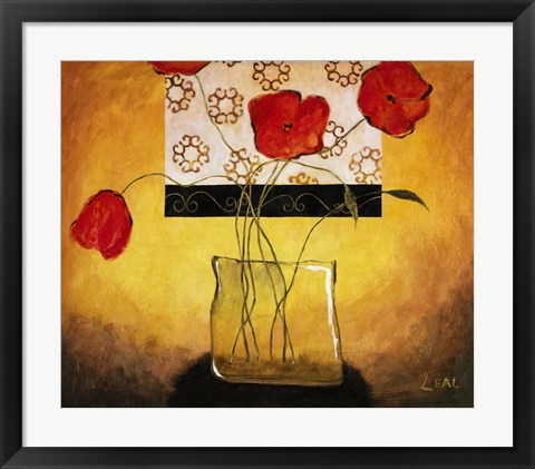 Framed Red Poppies II Print