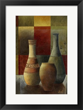 Framed Earthenware Pots II Print