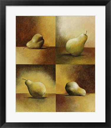 Framed Four Pears Print