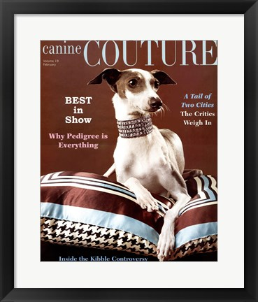 Framed Canine Couture-Best In Show Print