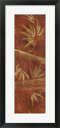 Framed Red Bamboo Panel Print