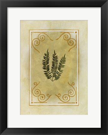 Framed Fern Delight I Print
