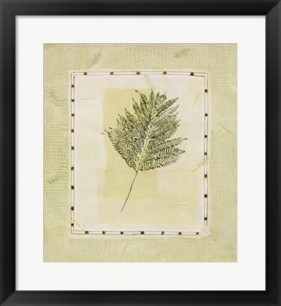 Framed Green Splendor I Print