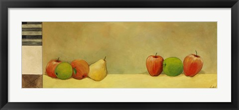 Framed Apples and Pears I Print