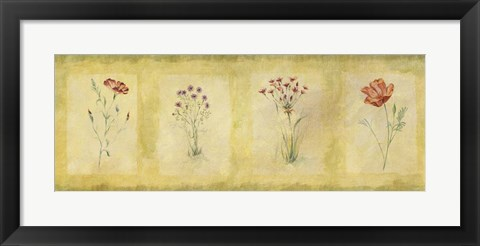 Framed Red Flowers Panel Print