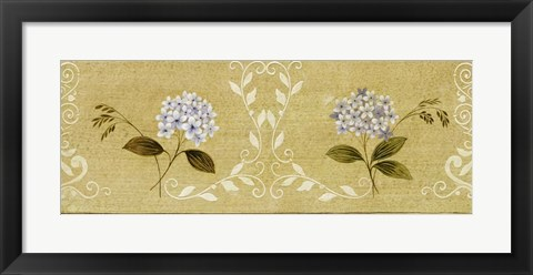 Framed Blue Flower Panel Print