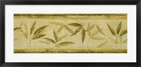 Framed Bamboo Leaf Panel Print