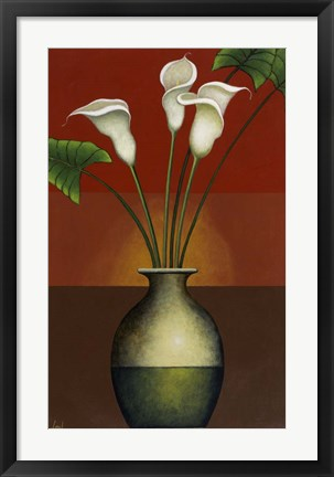 Framed Calla Lily Display I Print