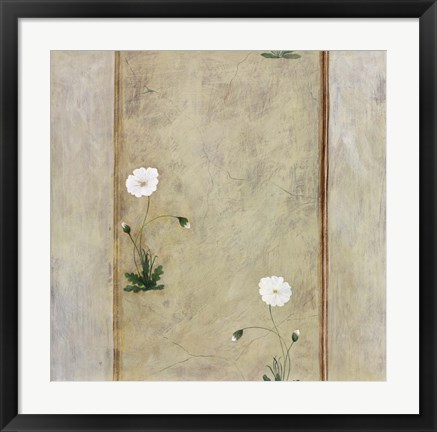 Framed Pair of White Flowers Print