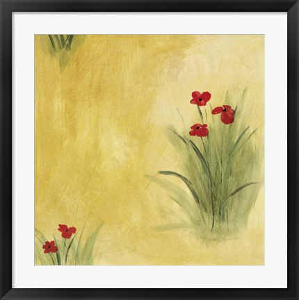 Framed Poppy Patch Print