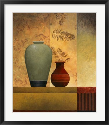 Framed Pair of Vases II Print