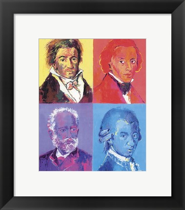 Framed Composers Print