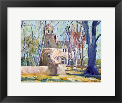 Framed Tan House Print